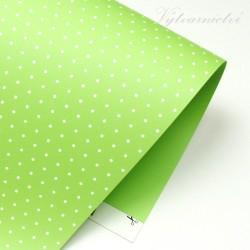 Happy papír zelený s puntíky