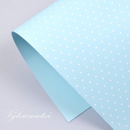 Happy světle modrý s puntíky