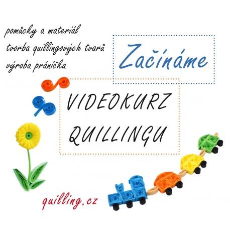 Začínáme - videokurz quillingu s MATERIÁLEM