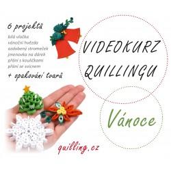 Vánoce - videokurz quillingu