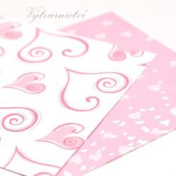 Srdíčka - ozdobný papír