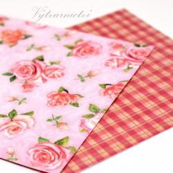 Růžová srdíčka - ozdobný papír