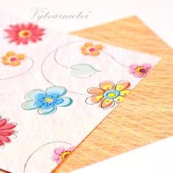 Pestré kvítí - ozdobný papír