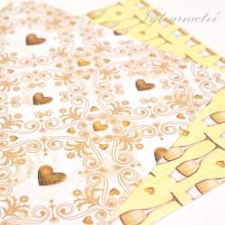 Svatební zlatý - ozdobný papír