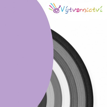 Světle fialové papírové proužky na quilling