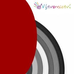 Tmavě červené papírové proužky na quilling