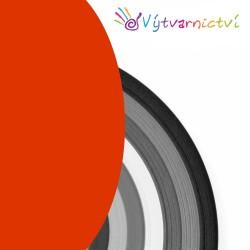Tmavě oranžové papírové proužky na quilling
