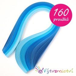 Modrá sada - papírové proužky na quilling