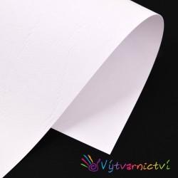 Bílá kůže – embosovaný papír
