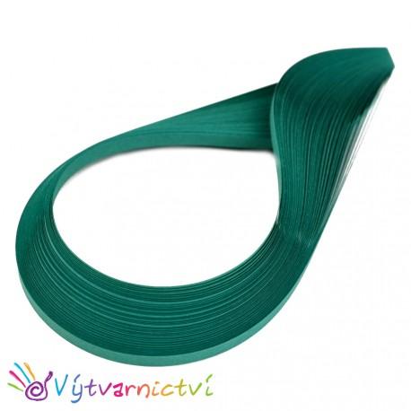 Tmavě zelené quillingové proužky ze silnějšího papíru