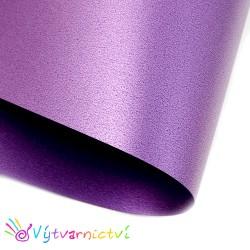 Fialový perleťový papír