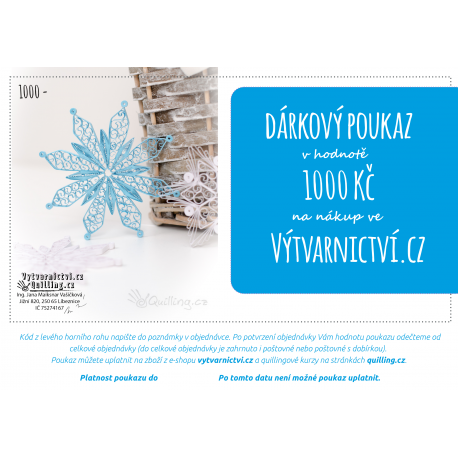 Vánoční dárkový poukaz, 1000 Kč