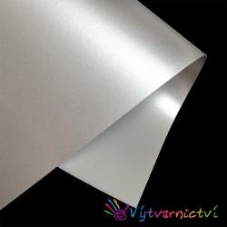 Stříbrný perleťový papír