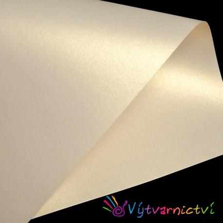 Krémový perleťový papír