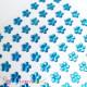 Třpytivé samolepící kytičky - modré 12 mm