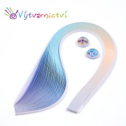 Modro-fialové tónované papírové proužky na quilling